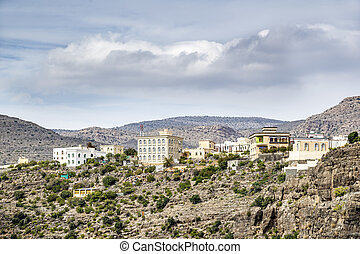 Village Wadi Bani Habib - Image of landscape with village...