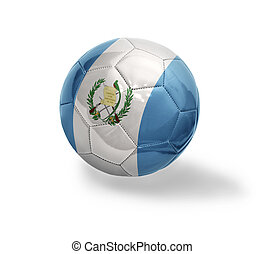 Guatemalan Football - Football ball with the national flag...