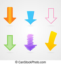 Vector arrows set - Set of many vector isolated arrows of...