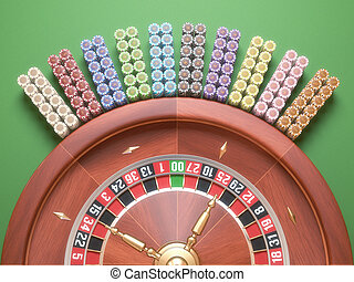 ruleta, pedacitos