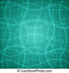Vector abstract background - Turquoise clean vector floral...