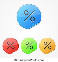 Vector discount stickers