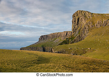 Neist Point Cliffs - Dramatic Neist Point cliff, a famous...