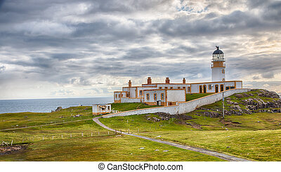 Neist Point Lighthouse HDR - Lighthouse on the cliffs of...