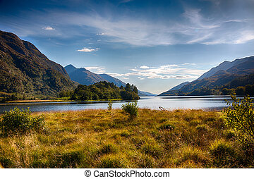 Highlands around Loch Shiel HDR - View from Glenfinnan...