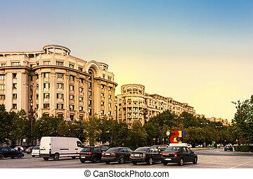 Rush Hour Bucharest Romania - Rush hour on Unirii Boulevard...