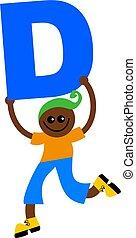 letter D kid