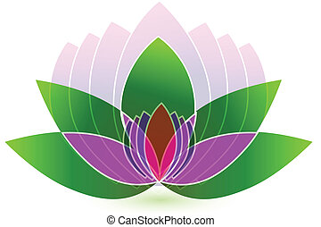 Lotus flower icon logo vector abstract background