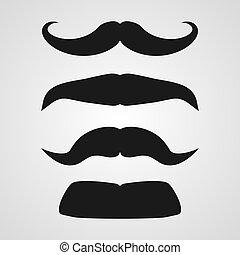 Vector mustache set - Set of clean vector mustache...