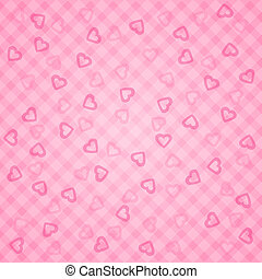 Vector heart background pattern