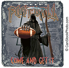 football creeps - halloween football illustration for shirt...