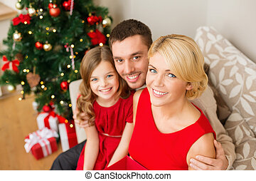 happy family at home - family, christmas, x-mas, happiness...