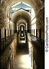Prison cellblock - A old historic prison cellblock