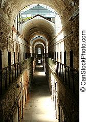 Prison cellblock - A old historic prison cellblock