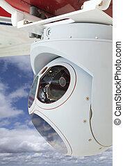 Closeup of Drone Camera and Sensor Pod Module - Closeup of a...