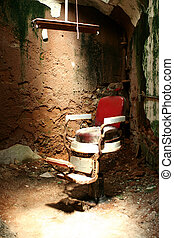 Prison barber chair - A old prison barber chair