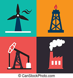 Industry design over colorful background, vector...