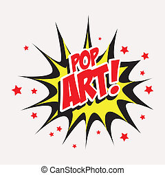 Pop art design over white background, vector illustration