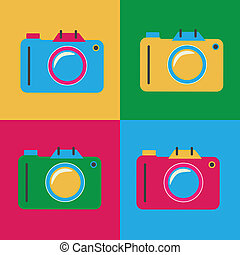 Pop art design over colorfu background, vector illustration