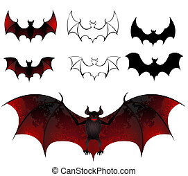 bats - artistically painted bats with beautiful texture...