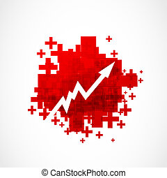grow up arrow positive design vector