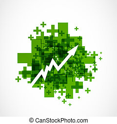 positive grow up arrow vector