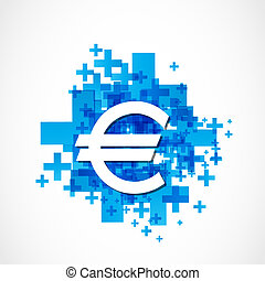 positive euro sign vector