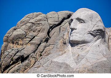 George Washington on Mount Rushmore National Monument, South...