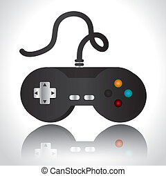 Videogame design over white background, vector illustration