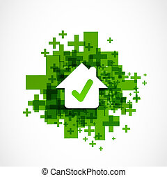 approved house good choice vector
