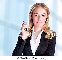 Confident business woman - Portrait of attractive confident...