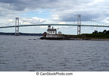 Mount Hope Narragansett Bay Bridge and the Rose Island...