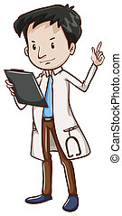 A simple sketch of a male doctor - Illustration of a simple...