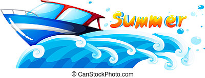 Summer artwork - Illustration of a summer artwork on a white...