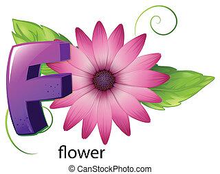 A letter F for flower - Illustration of a letter F for...