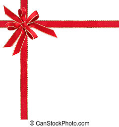Red and Gold Ribbon - Red and gold ribbon with double bow...