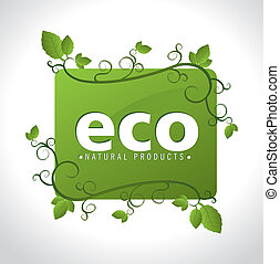 Ecology design over white background, vector illustration