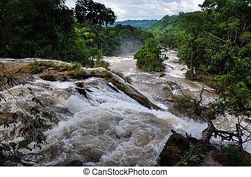 Azul,  Chiapas,  Agua,  México