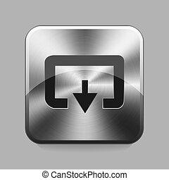 Chrome button - Dowload chrome or metal button or icon...