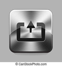 Chrome button - Upload chrome or metal button or icon vector...
