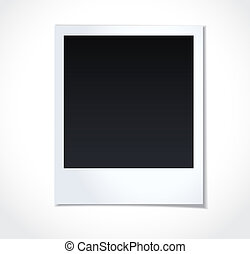 Polaroid photoframe on white background Vector illustration...