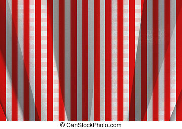 Tablecloth - Red and white squares tablecloth on movement