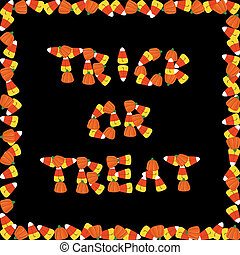 Trick or treat - Halloween background with candies Trick or...