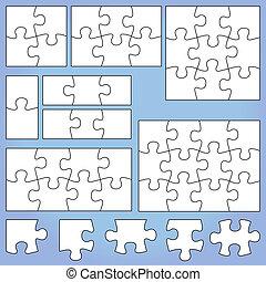 Puzzle set 1, 2, 3, 4, 6, 8, 9, 12 pieces