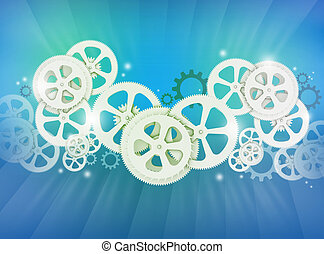 Abstract illustration of gear wheels