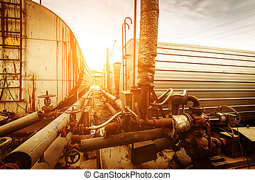 Oil and gas processing plant with pipe line valves
