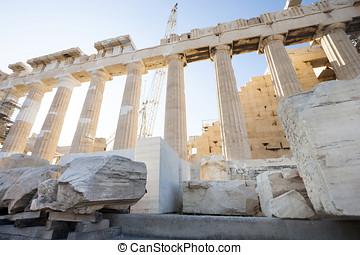 Reconstruction of Parthenon in Athenian Acropolis -...