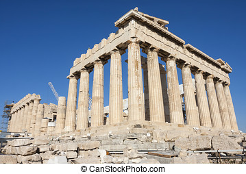 Reconstruction of Parthenon in Greece - Reconstruction work...