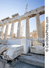 Reconstruction of Parthenon in Acropolis - Reconstruction...