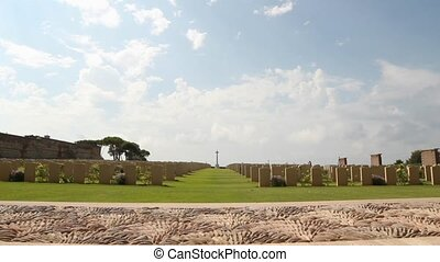 Anzio war cemetery - World war II Allied cemetery in Anzio,...